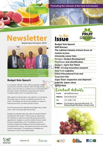 Fruit SA Newsletter (September/October 2019)