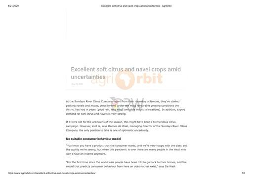 AgriOrbit (20/05/20)