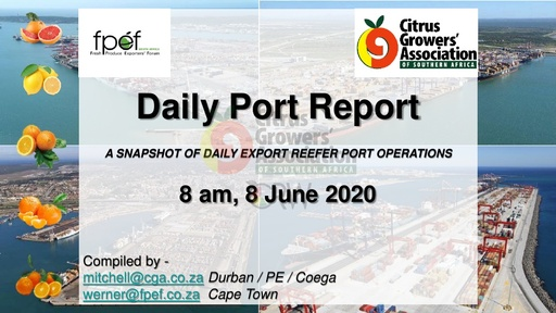 CGA COVID-19 Memo 41 - CGA Daily Port Report