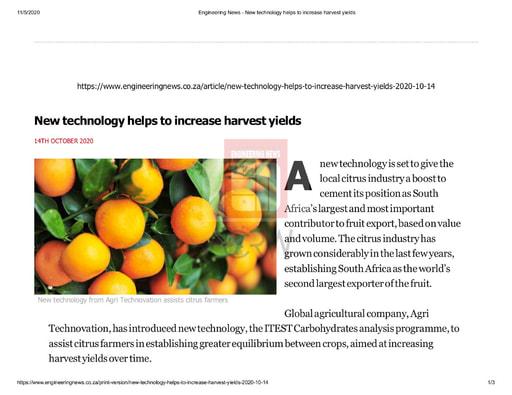 Engineering News (14/10/20)