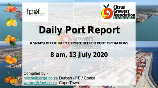 CGA COVID-19 Memo 44 - CGA Daily Port Report