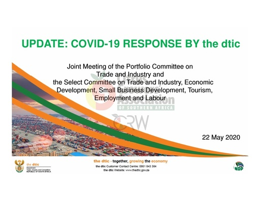 Update: COVID-19 Response by the DTIC