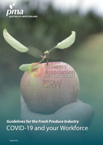 CGA COVID-19 Memo 27 - PMA Guidelines for the Fresh Produce Industry