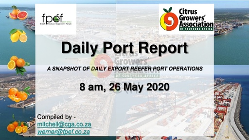 CGA COVID-19 Memo 39 - CGA Daily Port Report