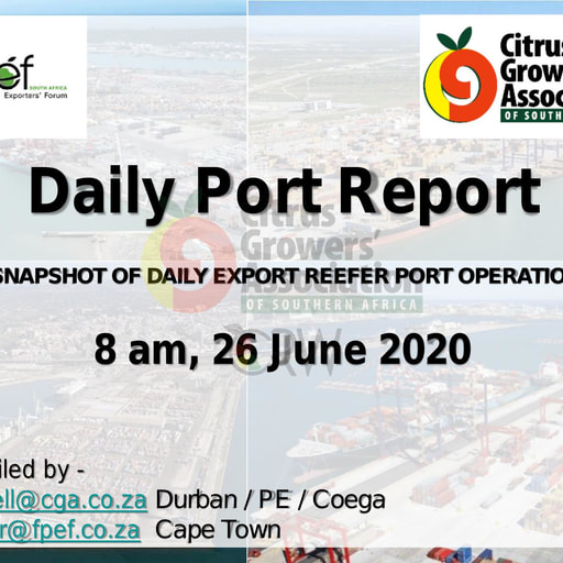 CGA COVID-19 Memo 43 - CGA Daily Port Report