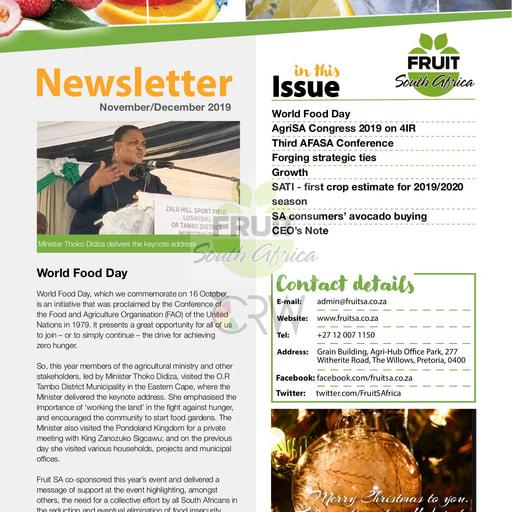 Fruit SA Newsletter (November/December 2019)