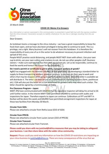 CGA COVID-19 Memo 04