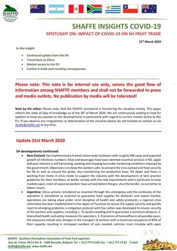 CGA COVID-19 Memo 11 - SHAFFE Insights COVID-19